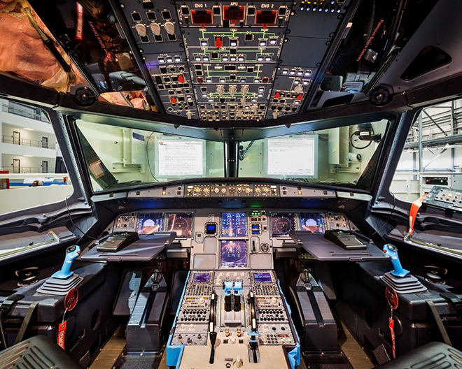 Airbus A321 кабина пилотов